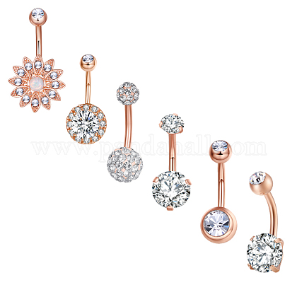 Brass Piercing JewelryAJEW-EE0006-80RG-1