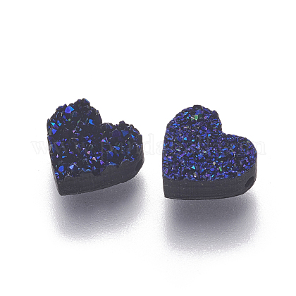 Imitation Druzy Gemstone Resin BeadsX-RESI-L026-D03-1