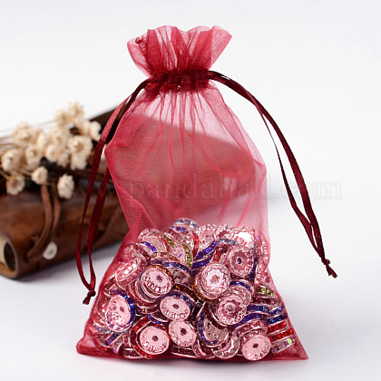 Organza Gift Bags with DrawstringOP-R016-10x15cm-03-1