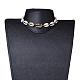 Collares de gargantilla trenzados de concha de cowrieNJEW-JN02387-01-6