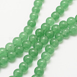 Natural Green Aventurine Bead Strands, Round, Dyed, 6mm, Hole: 1mm, about 62pcs/strand, 15.7 inches