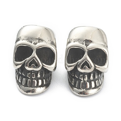 304 perline europei in acciaio inoxSTAS-J037-10AS-1
