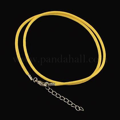 Algodón encerado el collar del cordónMAK-S032-1.5mm-118-1