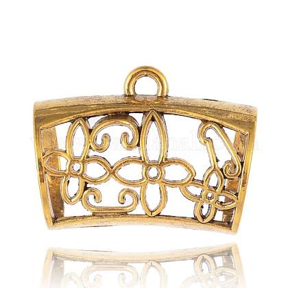 Tibetan Style Filigree Hanger LinksPALLOY-J264-05AG-1