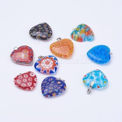 Handmade Millefiori Glass PendantsLK-XCP0000-01-1