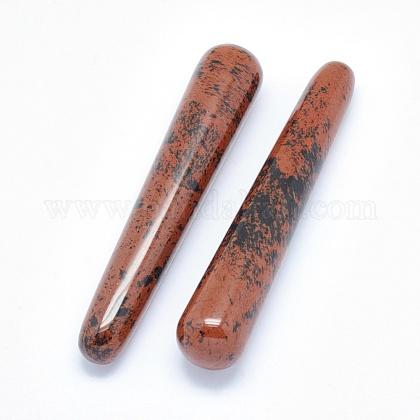 Palitos de masaje de obsidiana de caoba naturalDJEW-E004-01A-1