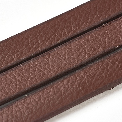 Cordones de cuero de imitación planaX-LC-E019-01C-1
