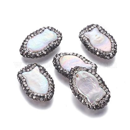 Perlas naturales abalorios de agua dulce cultivadasPEAR-F015-49-1