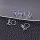 Plastic Clip-on Earring Findings X-KY-P007-M14-1