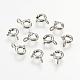 925 cierres de anillo de resorte de plata de leyX-STER-K037-069F-1