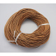 Cowhide Leather Cord, Leather Jewelry Cord, Peru, Size: about 2mm in diameter, 100m/bundle